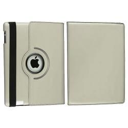 Grey 360-degree Swivel Leather Case for Apple iPad 2