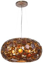 Varaluz Fascination 4-light Glass Chandelier