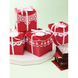 Martha Stewart Red Snowflake Present/ Treat Boxes (Pack of 6) - Thumbnail 1