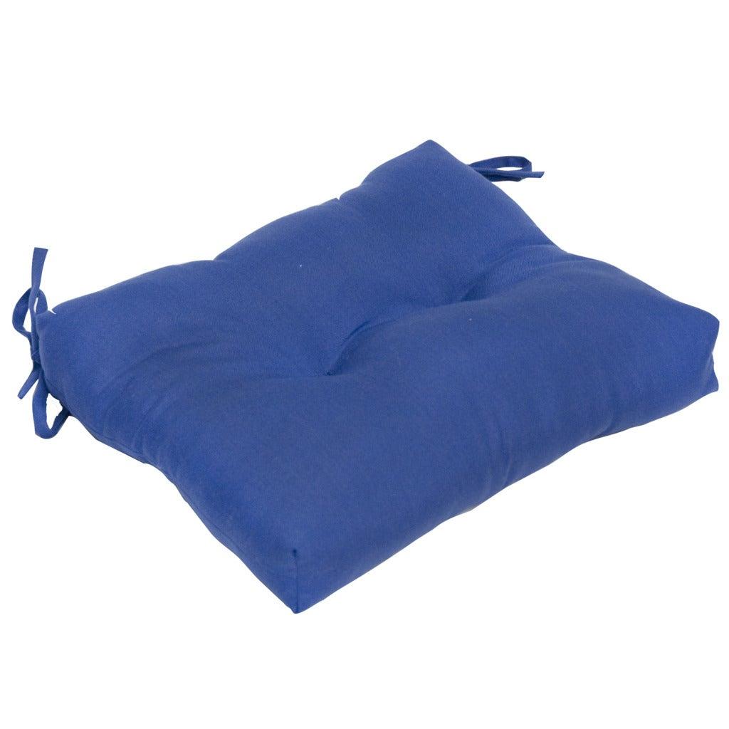Aqua Blue 17-inch Outdoor Dining Cushion