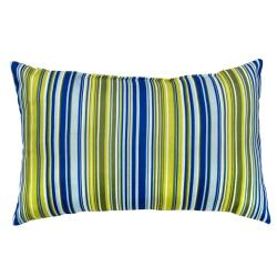 Poolside Stripe Rectangle Outdoor Accent Pillows (Set of 2)