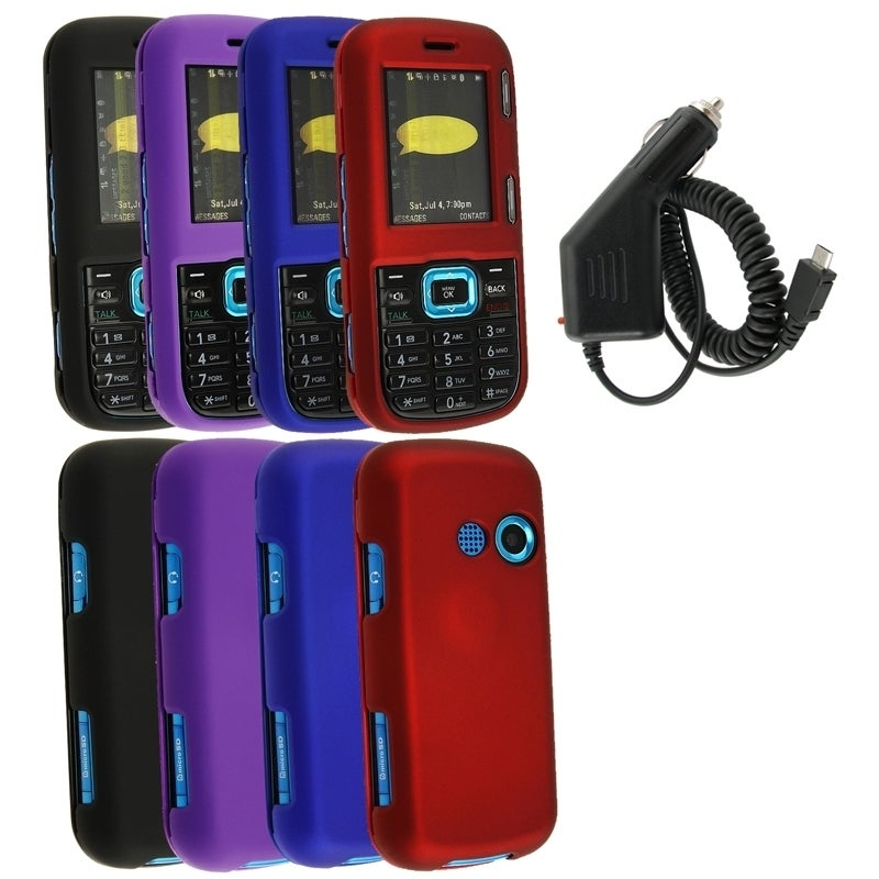 BasAcc 5-piece Case/ Car Charger for LG LX265 Rumor 2/ Cosmos