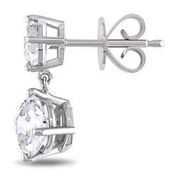 Miadora 18k White Gold 2 1/10ct TDW Diamond Earrings - Thumbnail 1