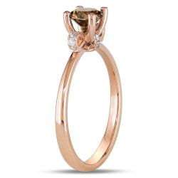 Miadora 18k Pink Gold 5/8ct TDW Brown and White Diamond Ring (G-H, VS1-VS2)