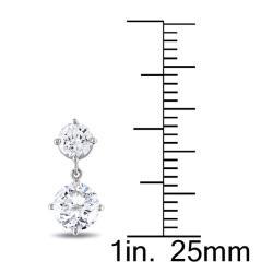 Miadora 18k White Gold 2 1/10ct TDW Diamond Earrings - Thumbnail 2