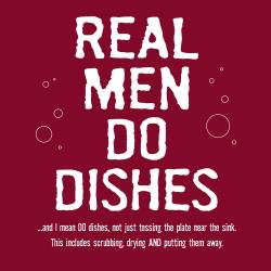 'Real Men Do Dishes' Kitchen Apron-Maroon