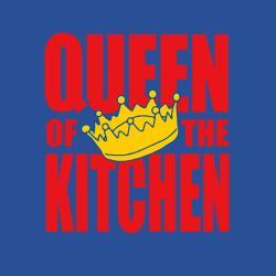 'Queen of the Kitchen' kitchen Apron-Dark Blue - Thumbnail 1
