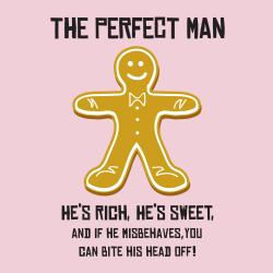 Attitude Aprons 'Perfect Man' Pink Apron