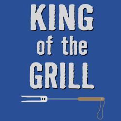 'King of the Grill' BBQ Grill Apron-Dark Blue