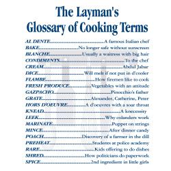 'Cooking Terms' Kitchen Apron-Natural - Thumbnail 1