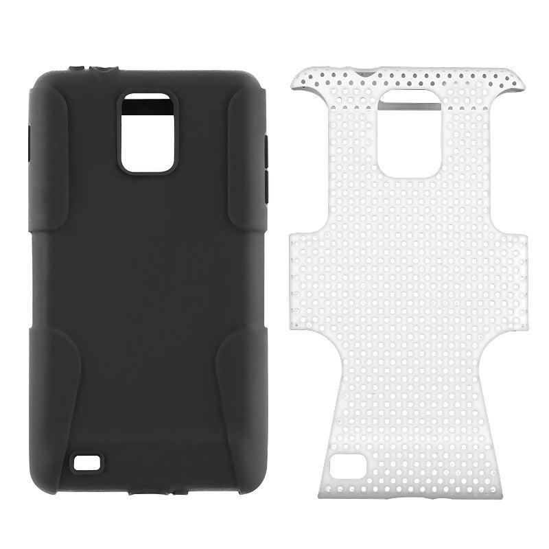 Black/ White Hybrid Case for Samsung i997 Infuse 4G