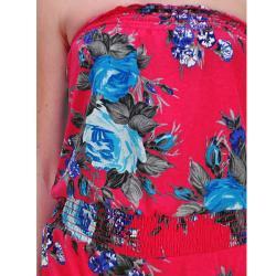 Tabeez Women's Floral Strapless Romper