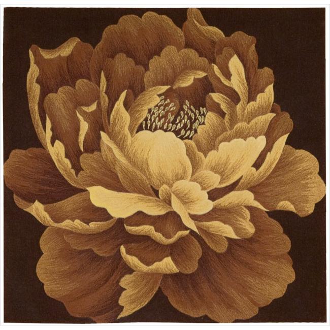 Nourison Hand Tufted Natural Flower Art Wool Rug (4' x 4')