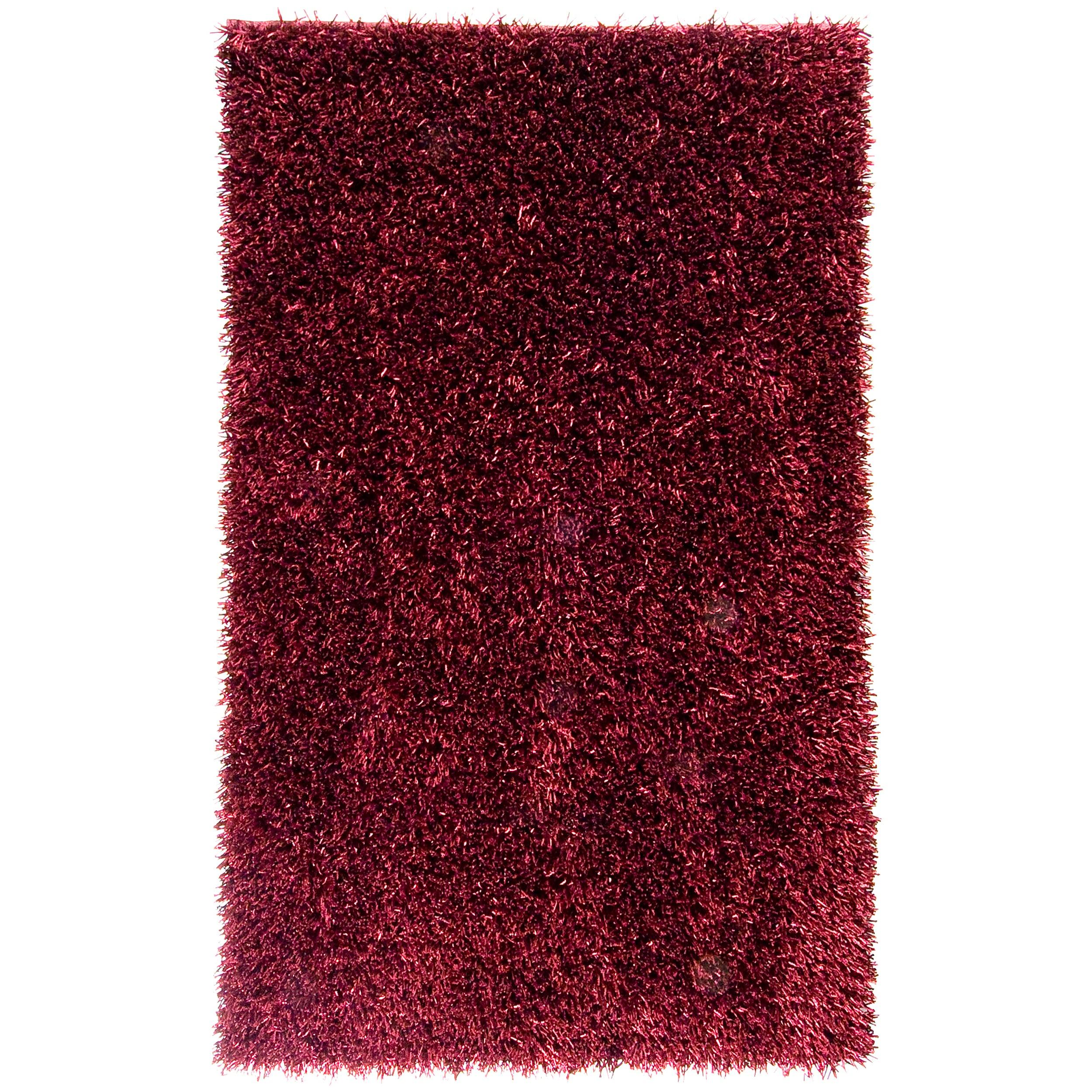 Hand-woven Red Asi Soft Plush Shag Rug (5' x 8')