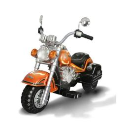 Harley-style Orange Battery Operated Chopper Motorcycle Ride-on