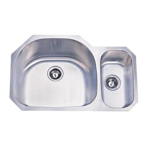 Stainless Steel 32-inch Dual Kitchen Sink