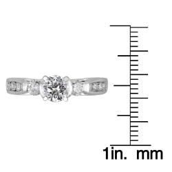 14k White Gold 1ct TDW Round Diamond Engagement Ring (H-I I1) - Thumbnail 2