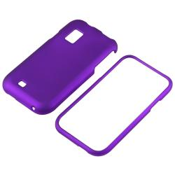 BasAcc Dark Purple Snap-on Rubber Coated Case for Samsung Fascinate - Thumbnail 1