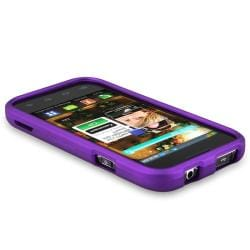 BasAcc Dark Purple Snap-on Rubber Coated Case for Samsung Fascinate - Thumbnail 2