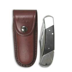 Kershaw Wildcat Ridge Black/Silver Lockback Folding Knife with Sheath - Thumbnail 1