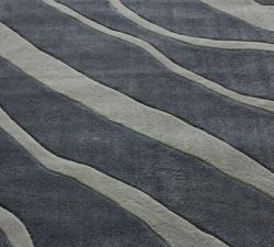 nuLOOM Handmade Pino Grey Water Waves Rug (6' x 9')