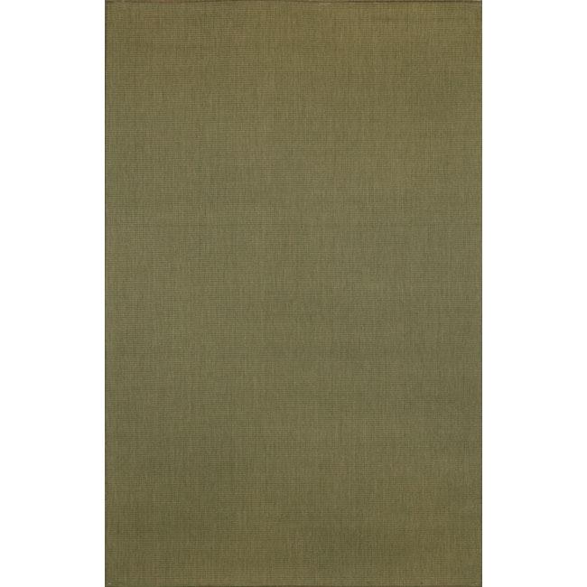 Solid Indoor/ Outdoor Moss Green Rug (4'11 x 7'6)