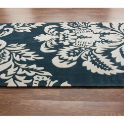 nuLOOM Handmade Pino Damask Rug (8'3 x 11') - Thumbnail 1