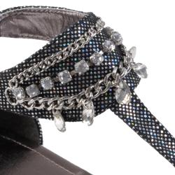 Journee Collection Women's 'Restrit' Jewel Detail Gladiator Sandals