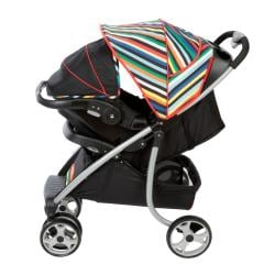Safety 1st SleekRide Travel System in London Stripe - Thumbnail 1