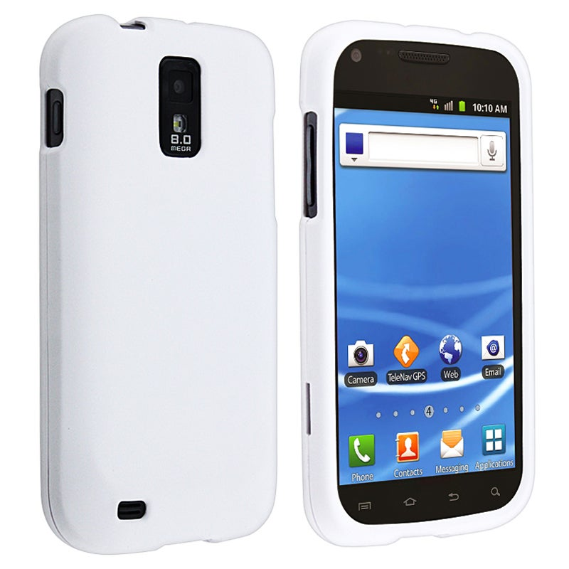 BasAcc White Rubber Coated Case for Samsung Galaxy S II T-Mobile T989