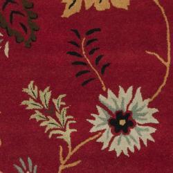 Safavieh Handmade Botanical Gardens Red Wool Rug (4' x 6') - Thumbnail 2