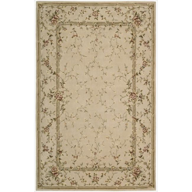 Nourison Hand-tufted Chateau Provence Beige Rug (5'6 x 8'6)