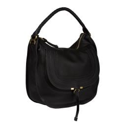 Chloe 'Marcie' Large Black Leather Hobo - Thumbnail 1