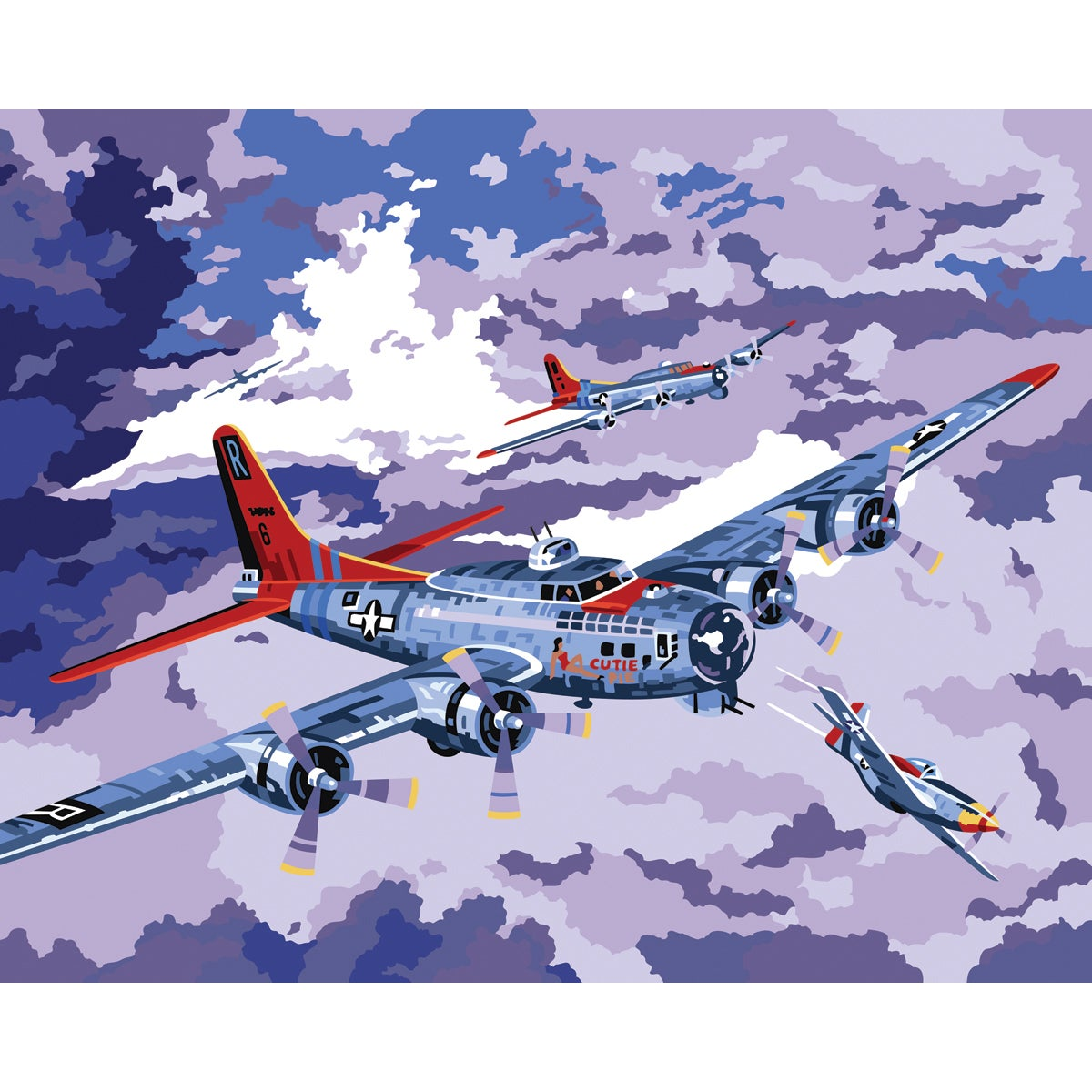 Plaid B-17 Bomber Paint-by-Number Kit (16x20)