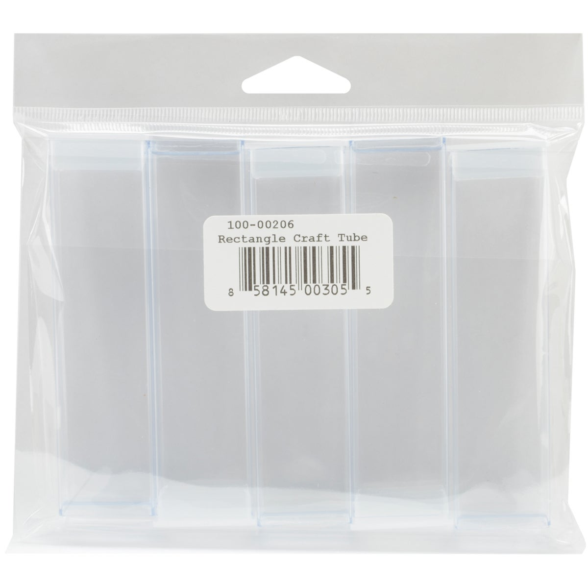 Clear Rectangle Trendy Craft Tube (Pack of 5)
