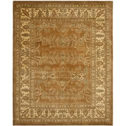 Safavieh Handmade Tree Light Brown/ Beige Hand-spun Wool Rug (8' x 10')
