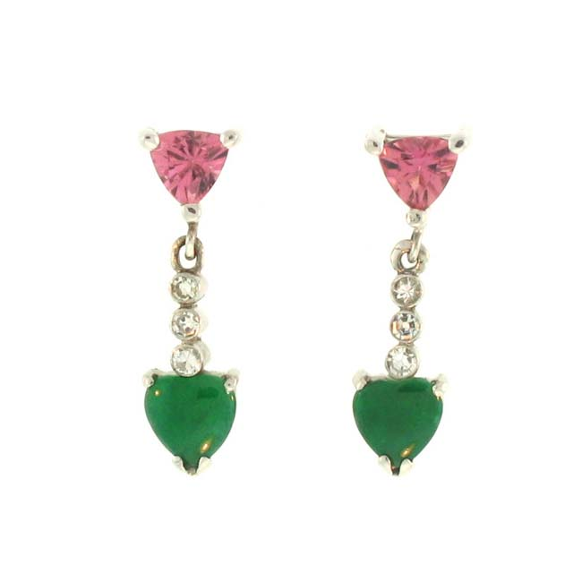 Mason Kay 18k Gold Multi-gemstone and 1/10ct TDW Diamond Earrings (G-H, VS1-VS2)