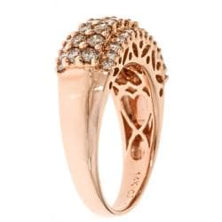 D'Yach 14k Rose Gold 1-1/4ct TDW Brown Diamond Ring (GH, I1-I2)