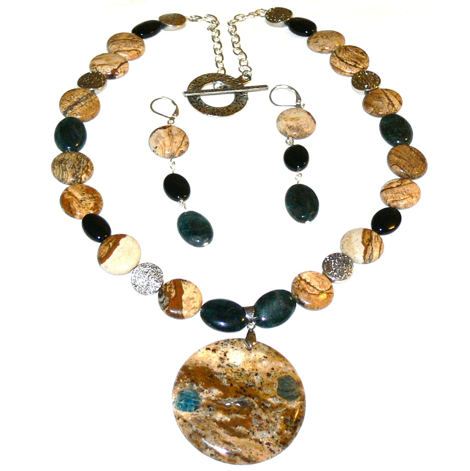 Susen Foster Designs 'Lake Country' Necklace and Earring Set