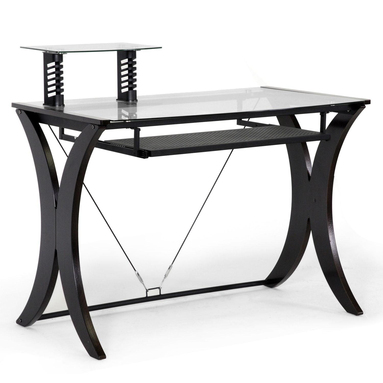 Xavier Dark Brown Modern Computer Desk Free Shipping