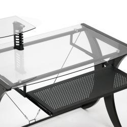 Xavier Dark Brown Modern Computer Desk - Thumbnail 2