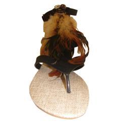 Carrini Women's Feather Gladiator Sandals - Thumbnail 1