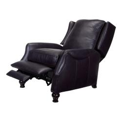 Thumbnail Charles Navy Blue Leather Recliner Club Chair