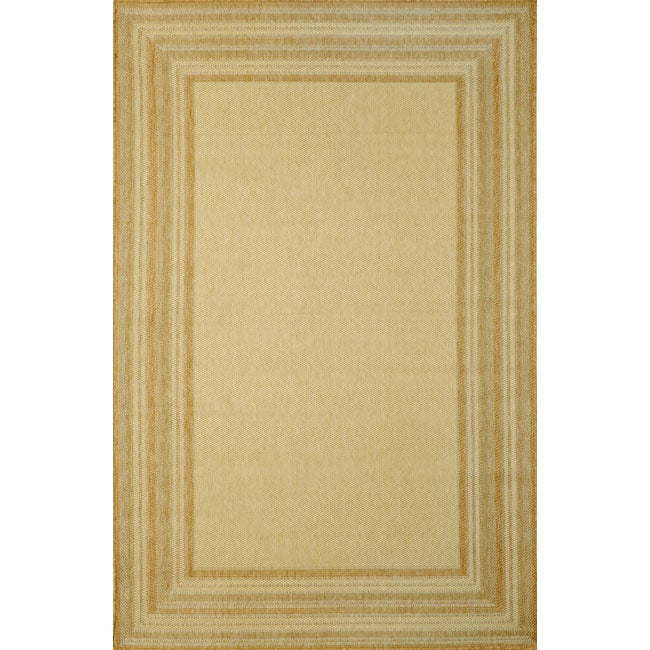 Line Border Neutral Rug (3'3 x 4'11)