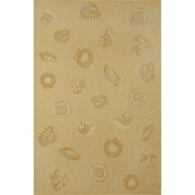 Beachcomber Shell Natural Area Rug (7'10 x 9'10)