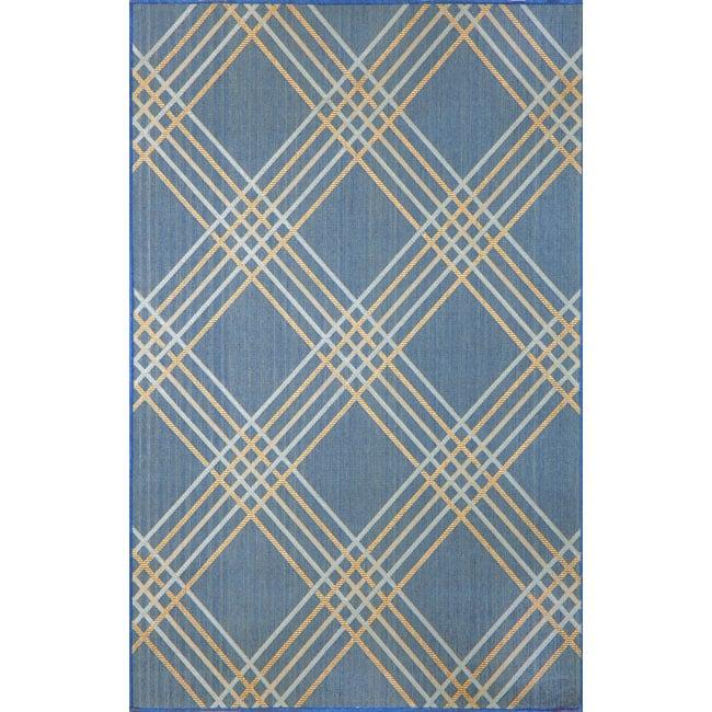 Tartan Blue Area Rug (7'10 x 9'10)