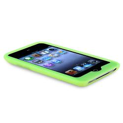 Green Silicone Skin Case for Apple iPod Touch 4th Generation - Thumbnail 2