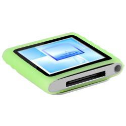 Green Silicone Skin Case for Apple iPod Nano 6th Generation