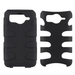 Black/ Black Fishbone Snap-on Case for HTC Inspire 4G - Thumbnail 1