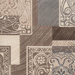 Meticulously Woven Gray Contemporary Mega Medallion Patchwork Rug (6'7 x 9'4) - Thumbnail 2